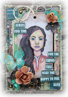 Mixed media canvas video tutorial with image transfer, Rebecca Baer stencils, gelatos, and Brett Weldele stamps