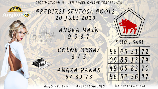 PREDIKSI SENTOSA POOLS 20 JULI 2019