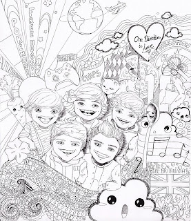 One Direction - Free printable Coloring pages for kids | 320x277