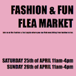the FASHION & FUN FLEA MARKET 25–26 of april Wasahallen/Djurgården