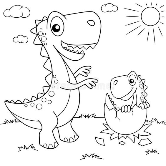 Dinosaurs coloring pages 9