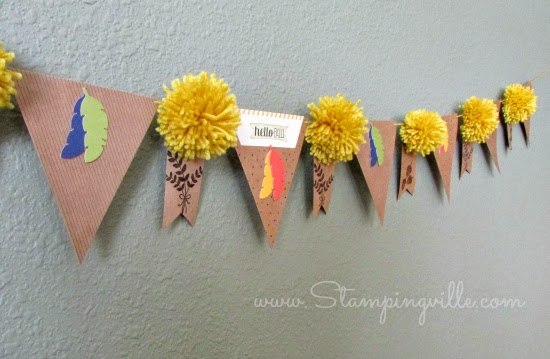 Hello Fall Banner | Stampingville #crafts #StampinUp #paperpumpkin