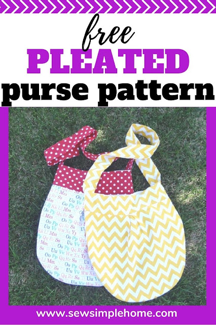 Grab this free pleated purse pattern and learn how to sew a purse.