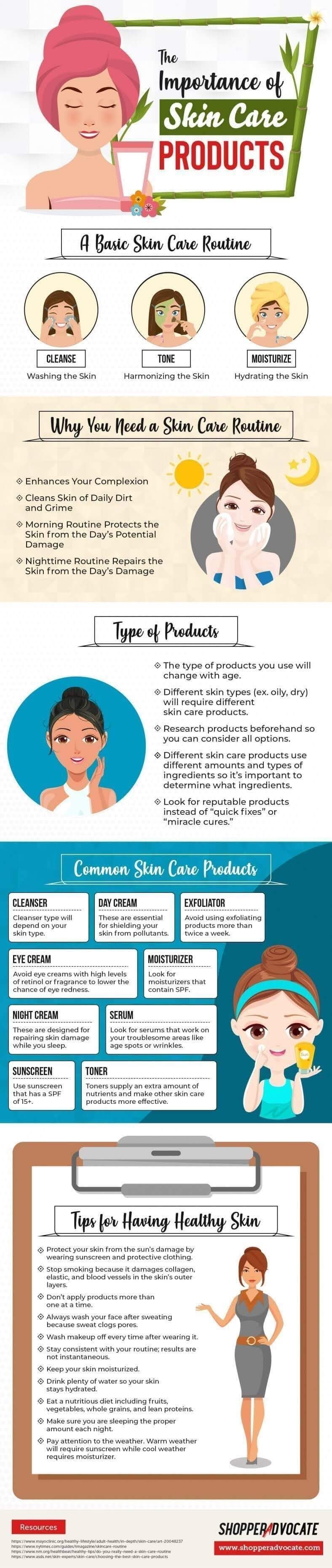 The Importance of Skin Care Products #infographic
