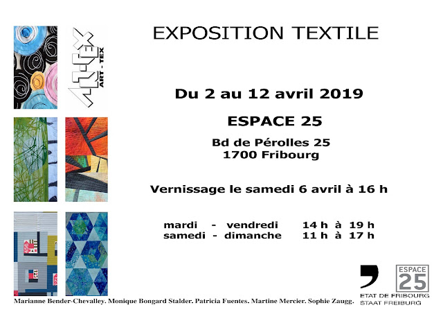 Luna Lovequilts - ART-TEX exhibition at Espace 25 in Fribourg - Switzerland