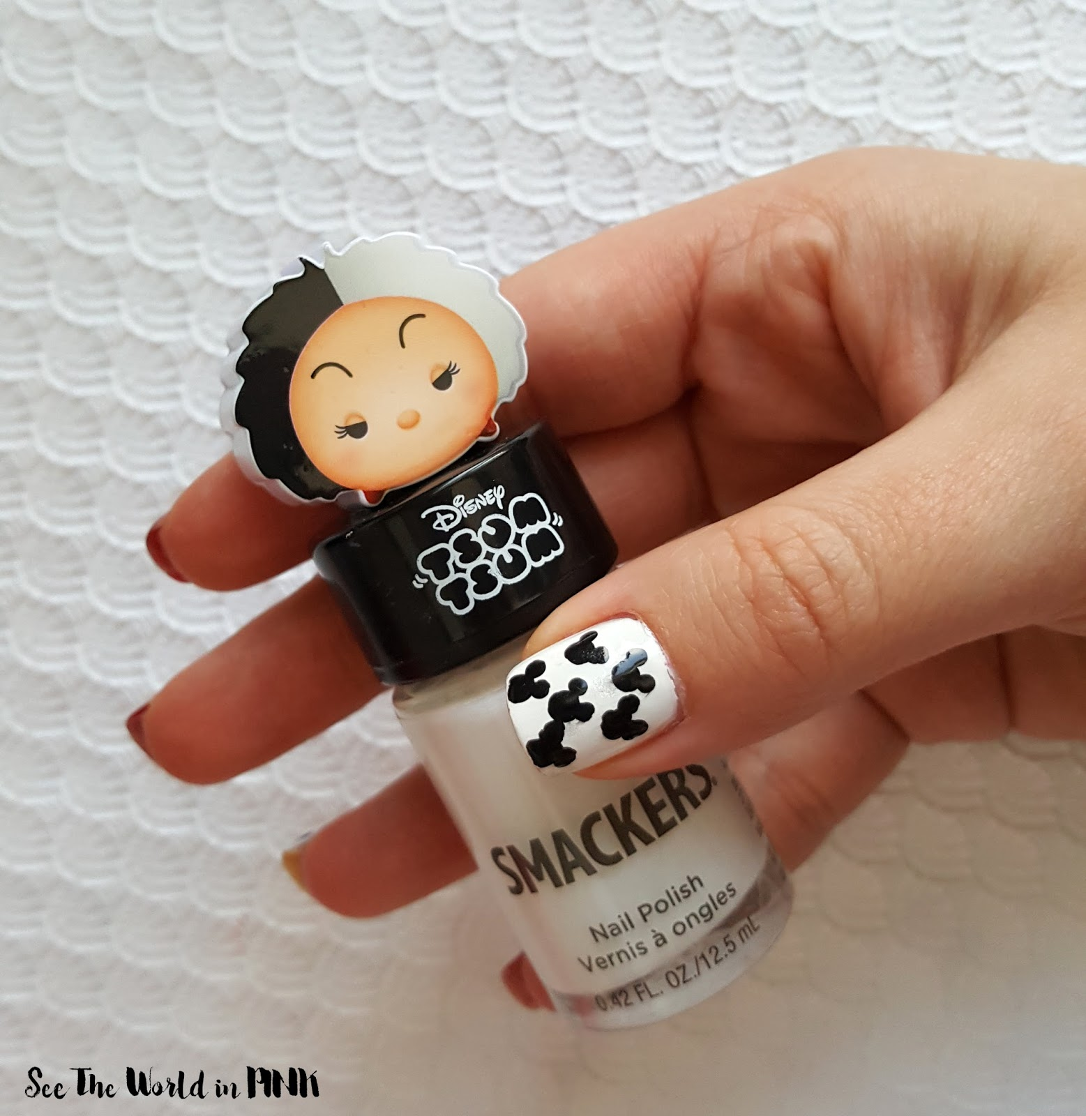 Disney Manicure Monday - Mickey Mouse Polka Dot Nail Art