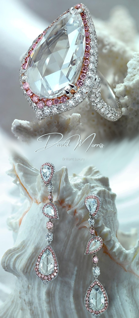 ♦David Morris dazzling cocktail ring & earrings from the enchanted Isle Jewelry Collection #jewelry #brilliantluxury