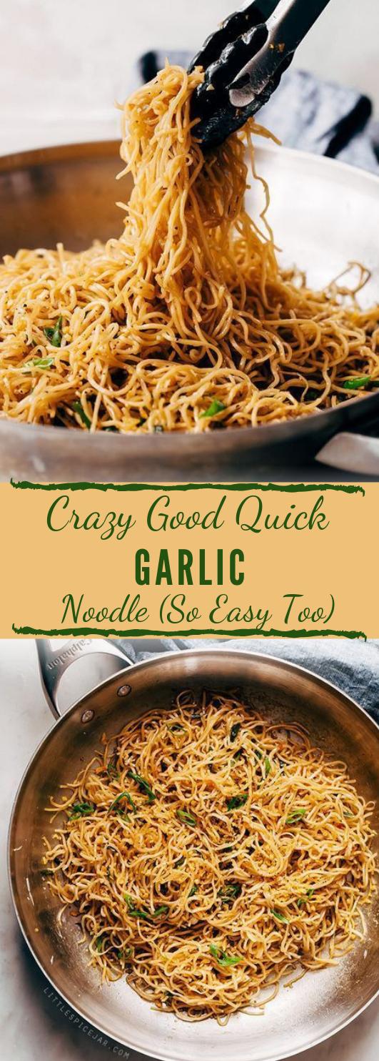 CRAZY GOOD QUICK GARLIC NOODLES #garlic #food #recipe #eathing #healthy