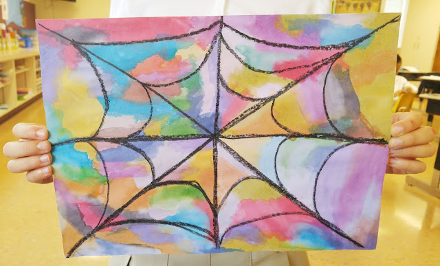 Watercolor Spider Webs