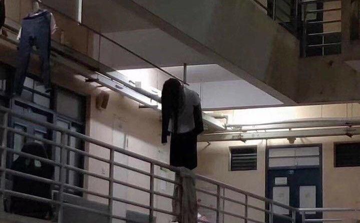 Kocak ,Susunan Jemuran Baju Kagetkan Warga di Apartemen ini karena Menyerupai Hantu Perempuan
