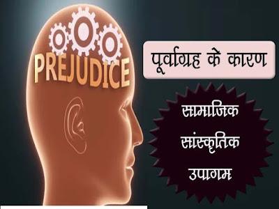 पूर्वग्रह के कारण  : सामाजिक सांस्कृतिक उपागम | Socio-cultural approach To Prejudice