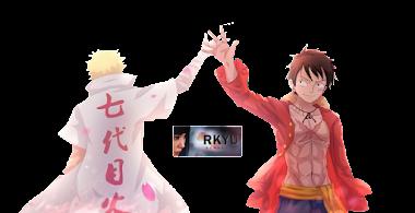 Cross-Over Naruto One piece Render by rkyu