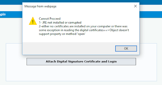 "Cannot Proceed: ""JRE not installed or corrupted"" or ""Either no certificates are installed on your computer or there was some exception in reading the digital certificates"""
