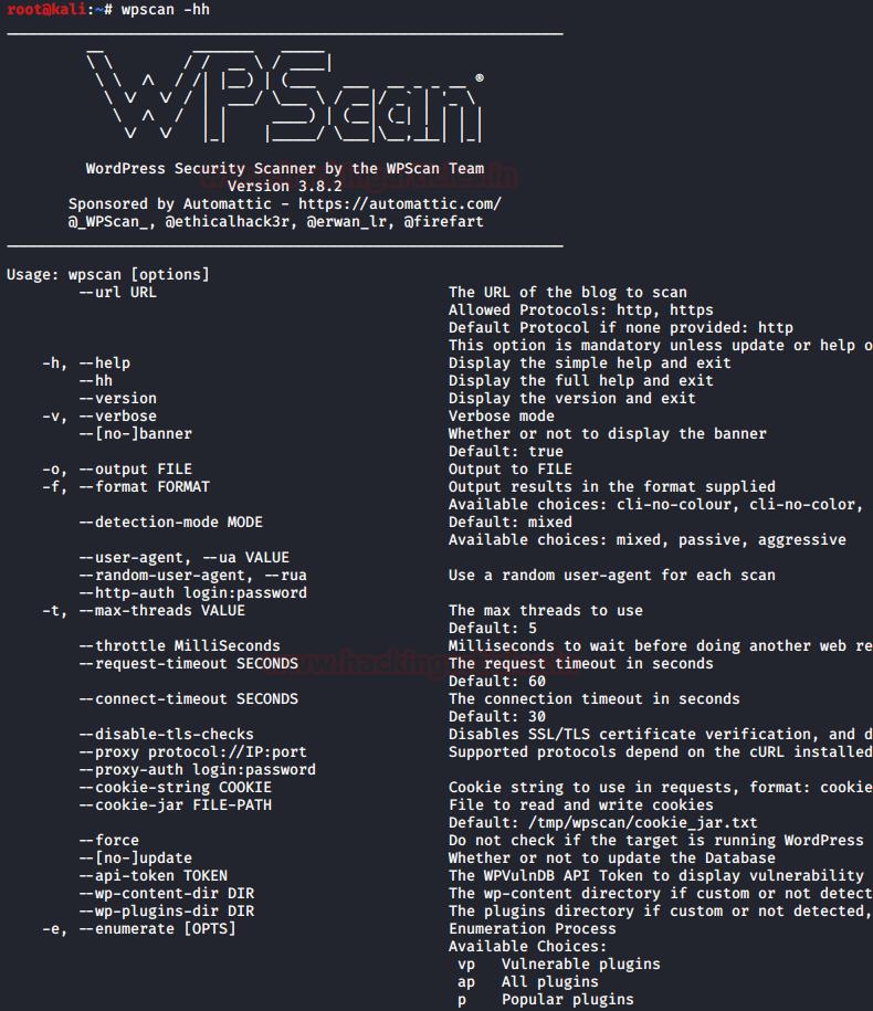 WPScan:WordPress Pentesting Framework
