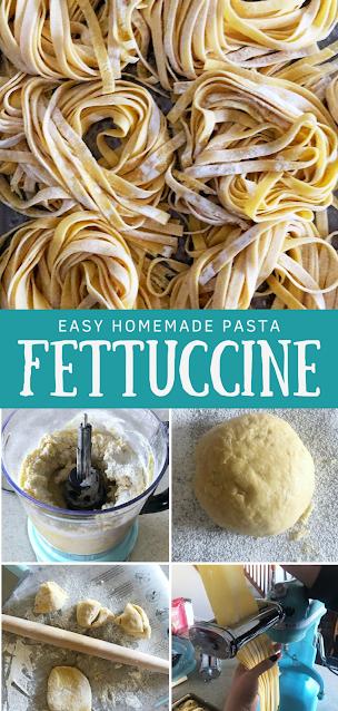 Homemade Fettuccine Pasta