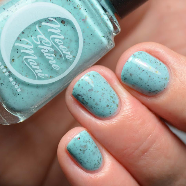 teal flakie nail polish