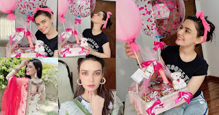 Actress Kiran Haq Celebrating her Birthday