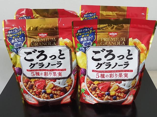 Ngũ cốc ăn liền Nissin Premium Granola, Hàng Nhật