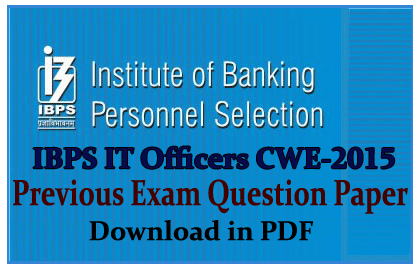 IBPS IT Officer CWE