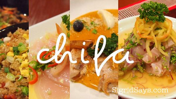 Chifa Peruvian restaurant in Bacolod