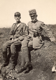 Emanuele Filiberto with his eldest son, Amedeo, in their military uniforms