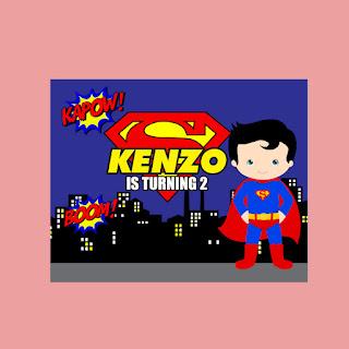 Banner Ulang Tahun Superman