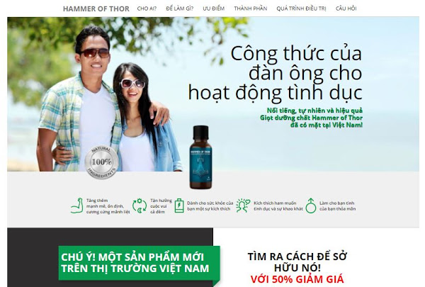 Template Landing Page Blogspot Bán Hàng Hammer Of Thor