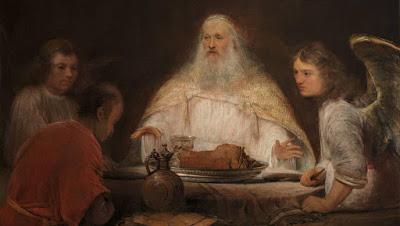Abraão e Sara cozinham para dois anjos e Jesus! código da Bíblia
