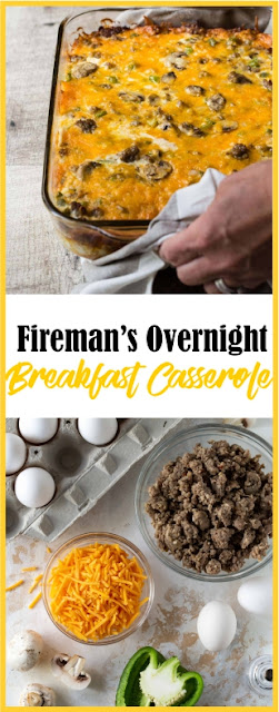 Fireman's Overnight Breakfast Casserole Recipe