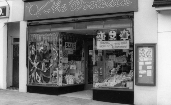 Photograph of The Woolsack, Bradmore Green 1986, had been decorated to mark the wedding of Prince Andrew and Sarah Ferguson.
