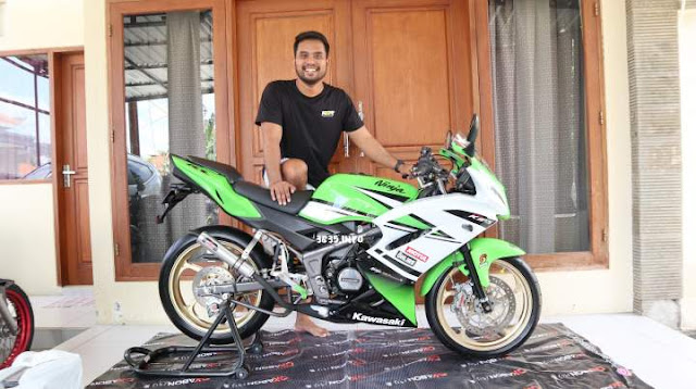 New Ninja 150RR Modifikasi Hedon Bali Indonesia