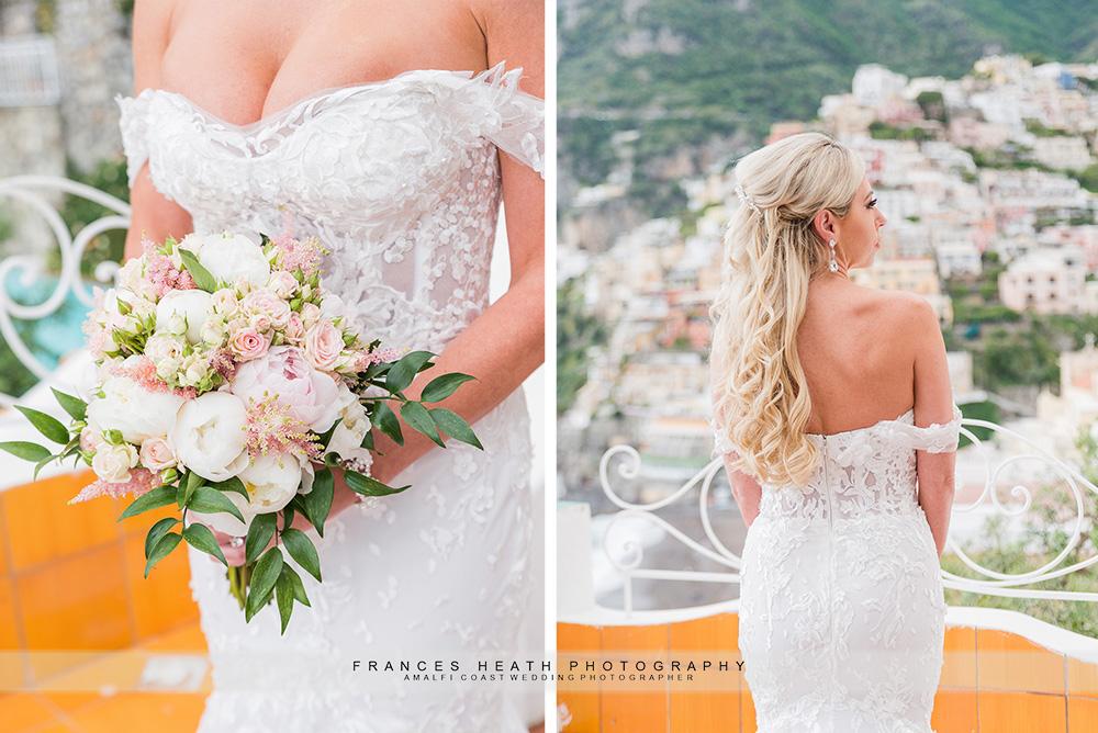 Bridal portrait at hotel Marincanto