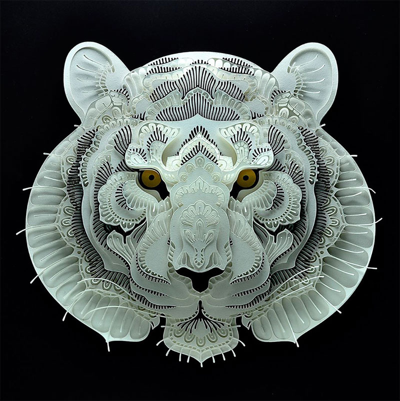 Papercut Art Of Endangered Animals By Patrick Cabral