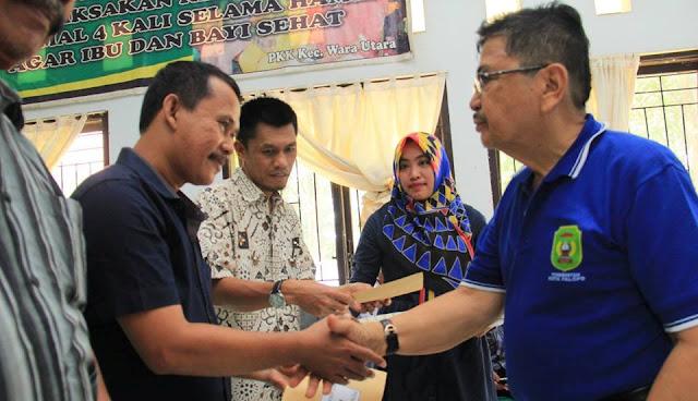 Wali Kota Salurkan Insentif Imam Masjid dan Guru Mengaji
