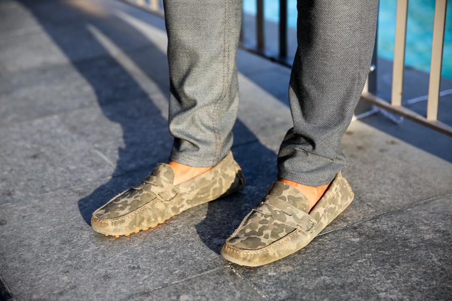 Leo Chan, Levitate Style, menswear, Dubai, Camo Loafers