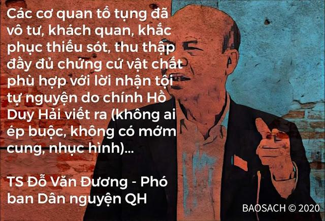 Ông Trương Hòa Bình nói chưa có cơ sở Hồ Duy hải oan hay không oan