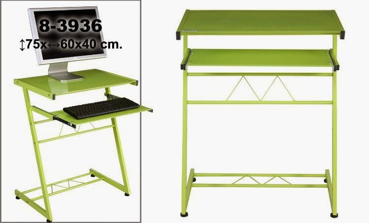 Mesa acero y cristal pc, mesa auxiliar