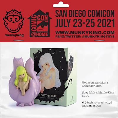 San Diego Comic-Con 2021 Exclusive Uyu & Assteriskat Lavender Mist Edition Vinyl Figure by Soey Milk x Munky King