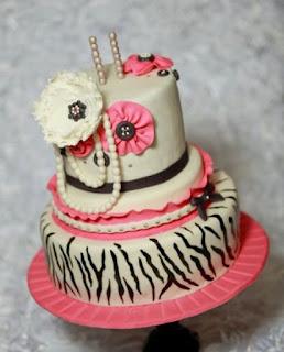 gambar kue ulang tahun 2 tingkat sederhana