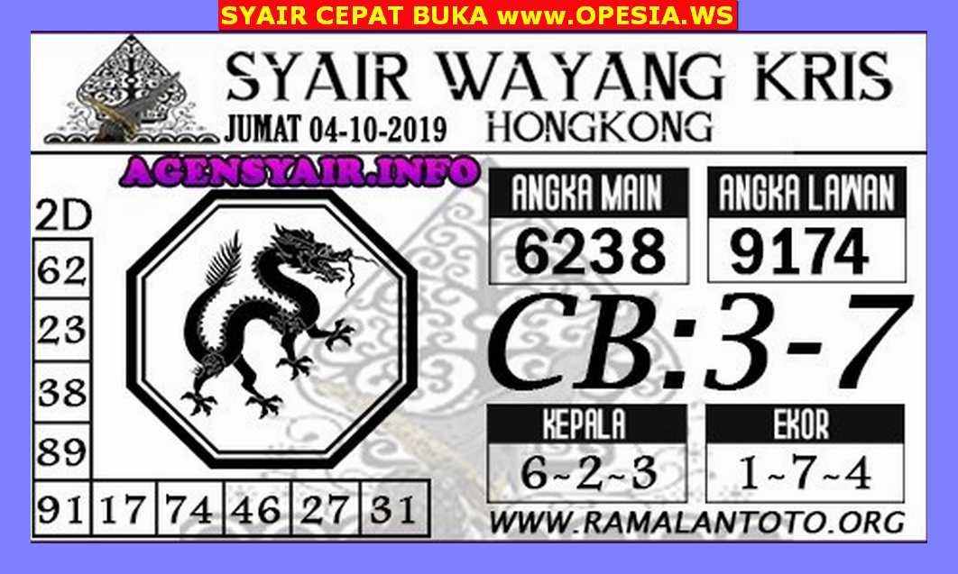 Kode syair Hongkong Jumat 4 Oktober 2019 162