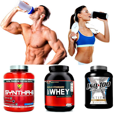 Batidos proteínas masa muscular hombre mujer