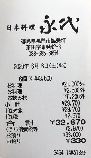 すし和食 永代 2020/6/6 飲食レビュー