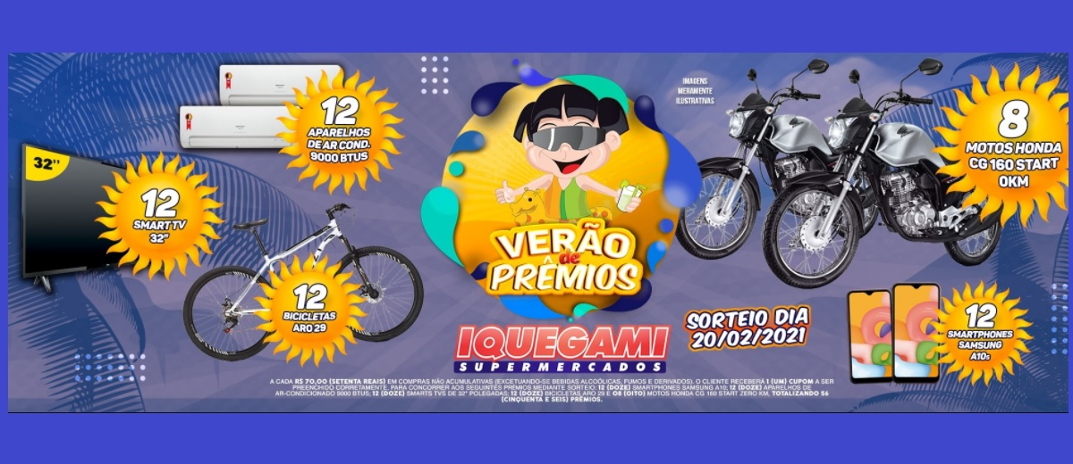 Promoção Iquegami Verão de Prêmios 2020 2021 - Participar e Prêmios