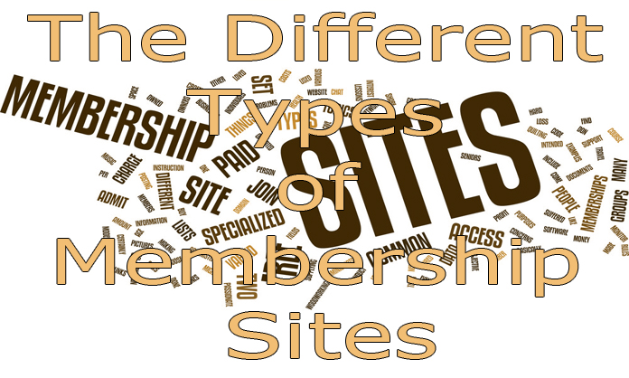 The Different Types of Membership Sites