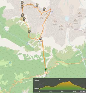 Map Via Ferrata Ivano Dibona
