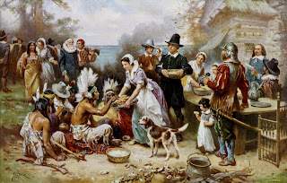 The First Thanksgiving. 1621 - https://commons.wikimedia.org/wiki/File:The_First_Thanksgiving_cph.3g04961.jpg