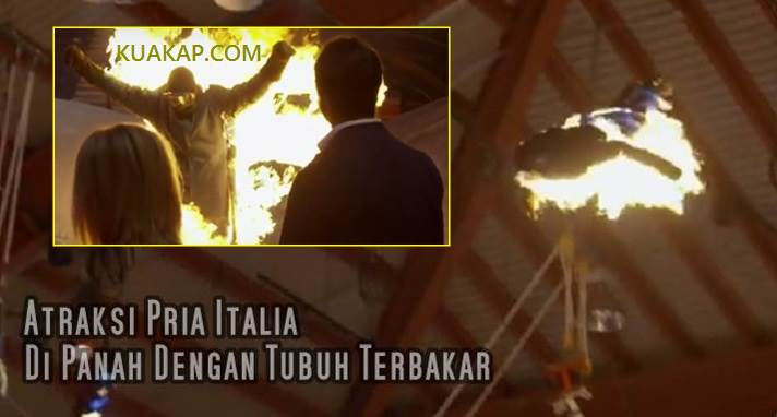 Video: Pria ini Di Bakar Dan Di Panah Masuk Guinness Book of World Records Italia