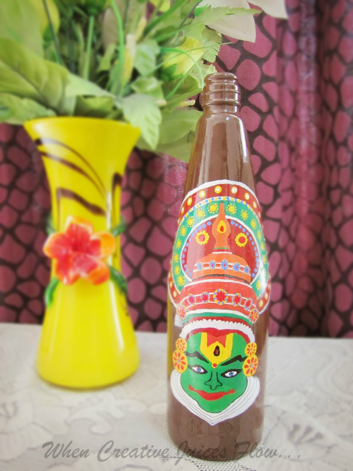 When Creative Juices Flow...: DIY: Painting Glass Bottles ...