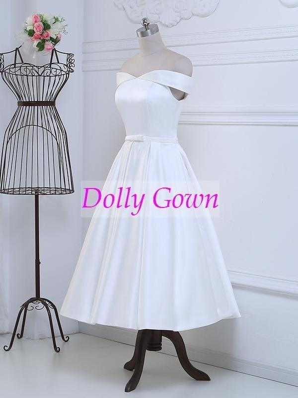 1950s inspired Vintage tea length wedding dress