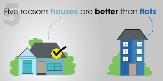 Five reasons houses are better than flats